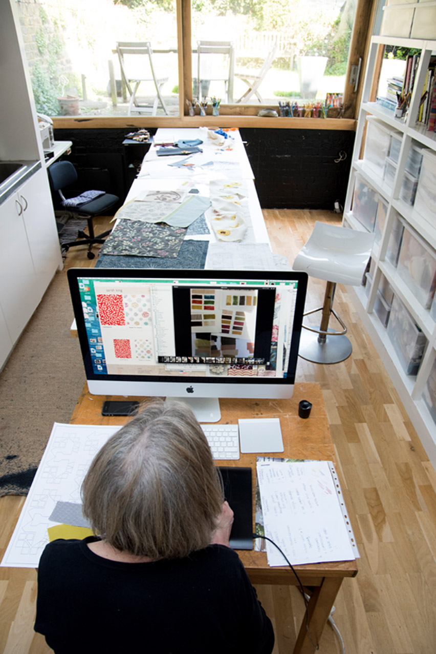 Sarah King in her London studio.